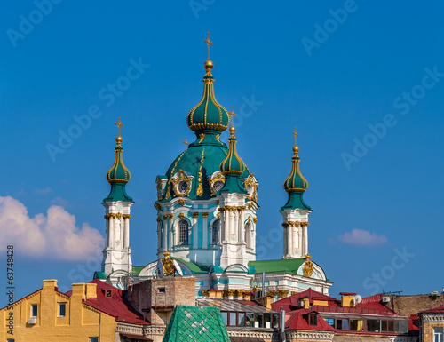 Cupola of St Andrew's Church - Kyiv, Ukraine