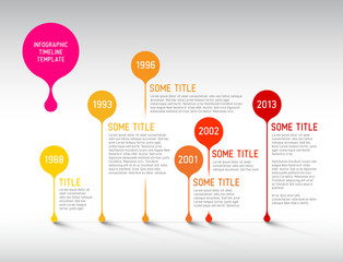 Infographic timeline report template with bubbles