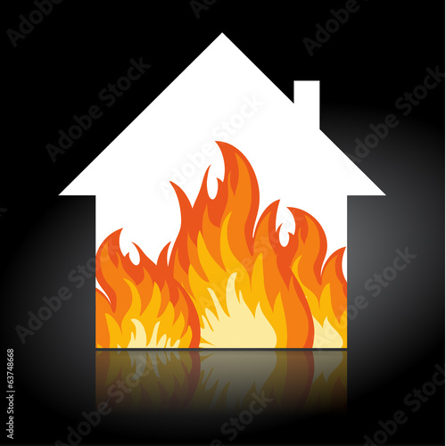 House fire icon