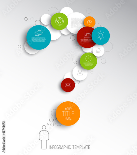 Question mark - light Vector infographic template