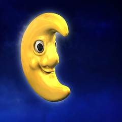Mond Cartoon 3D