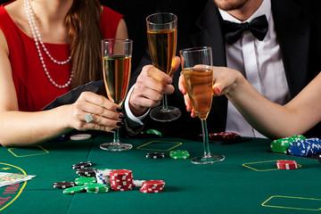 Casino champagne toast