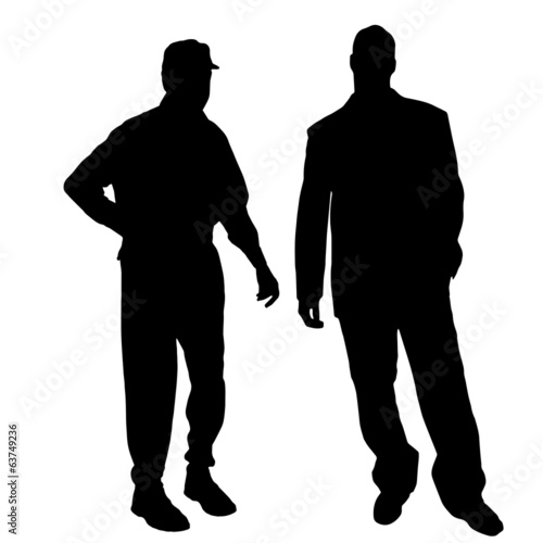 Vector silhouette of men.