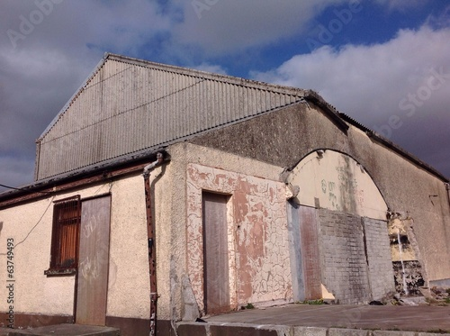 canvas print picture old abandoned cattle mart building in ireland