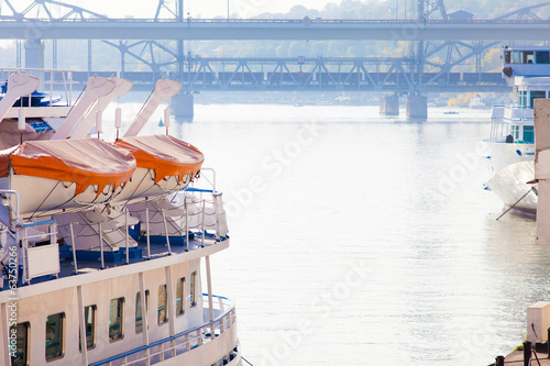 Ships at Porto in Rostov-on-Don