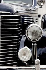 Black Old Car Headlight.