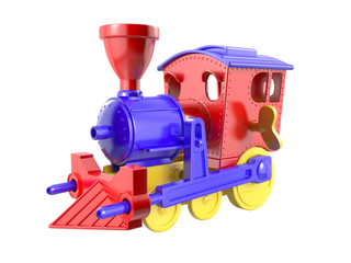 Toy train. 3D isolated