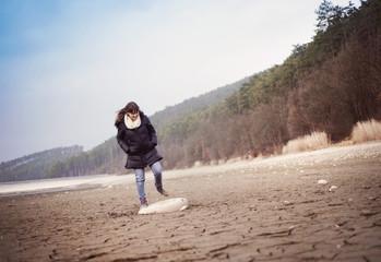 Pregnant woman outdoor