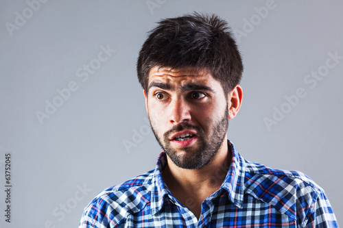 Young man with anxiety expression
