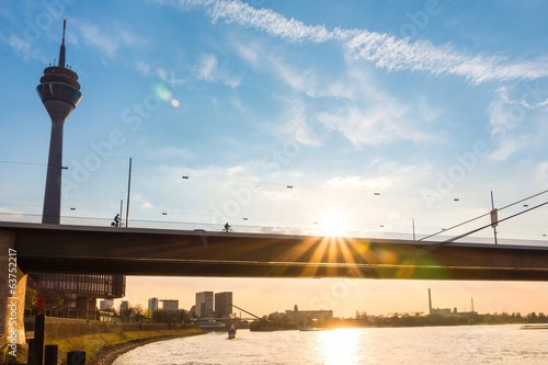 Düsseldorf, Germany, Riverbank, Rhein