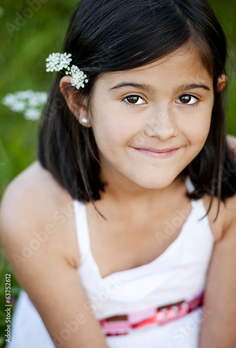 Outdoor portrait of little girl