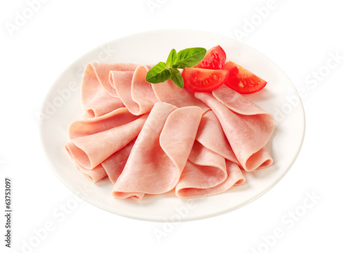 Thin-sliced ham