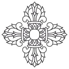 Sacred buddhist religious symbol  - vajra or dorje