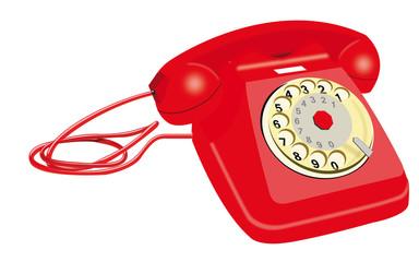 Telefono a disco anni 60 - telefonias fissa