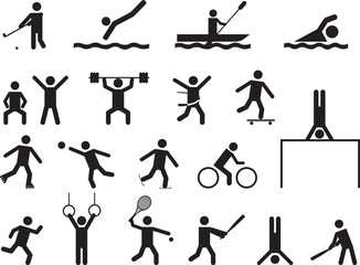 Pictogram people doing sport activities
