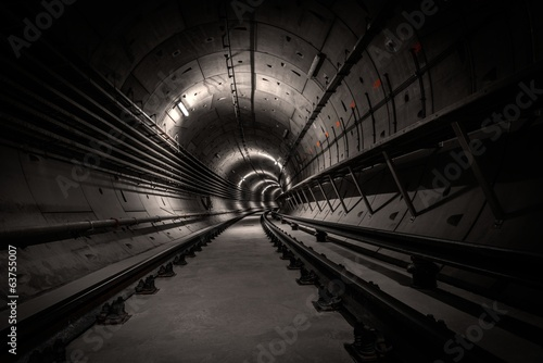 In de dag Tunnel Underground tunnel for the subway