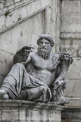 Statue of Neptune at Piazza del Campidoglio, Rome, Italy