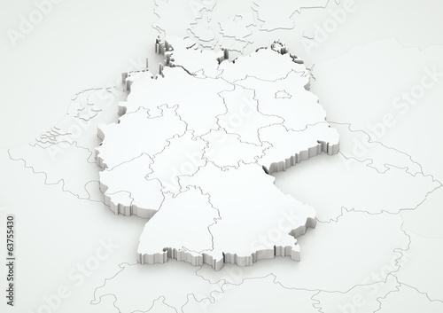 Deutschland und angrenzende Länder detailgetreu / V. 2.0