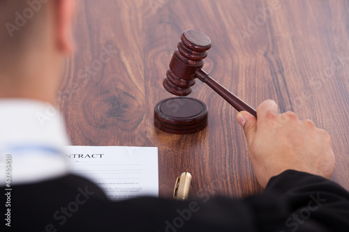 Judge Knocking Gavel