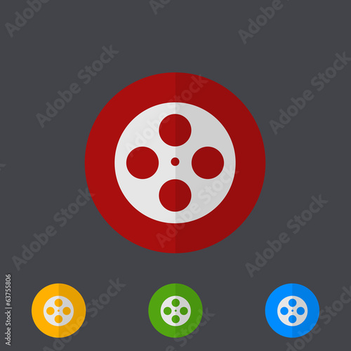 Vector modern circle icons set on gray