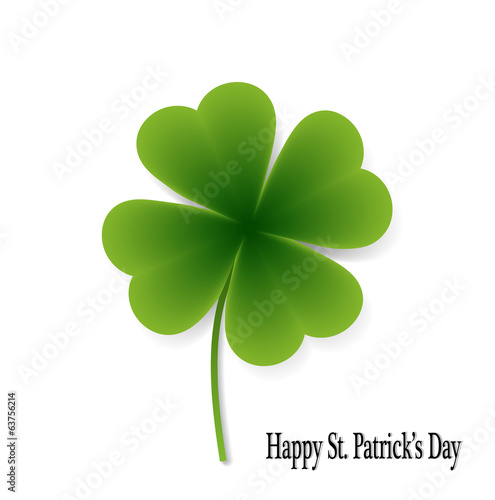 leaf clover isolated on white background in vector