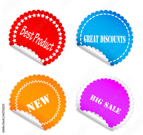 Set of color labels