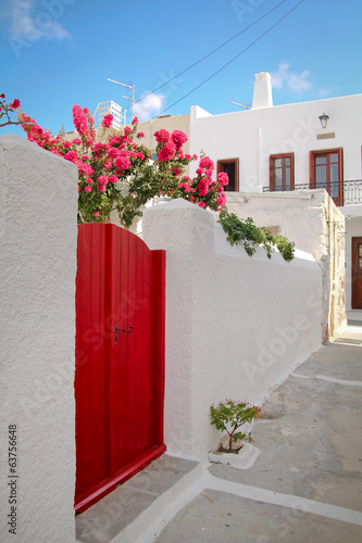 Greece red door