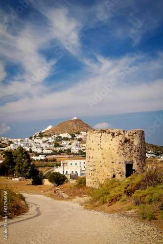canvas print picture Windmill at Milos island, Greece