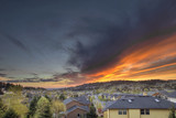 Fiery Sunset Over Happy Valley Oregon