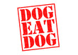 canvas print picture - DOG EAT DOG