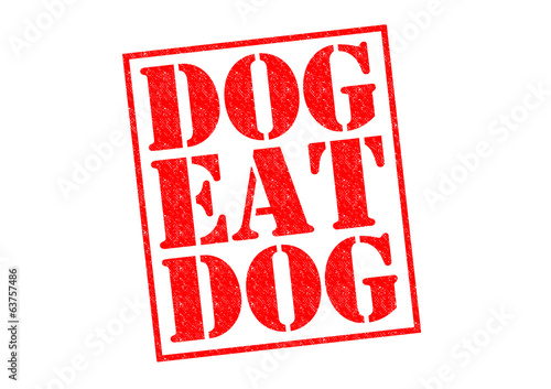 canvas print picture DOG EAT DOG