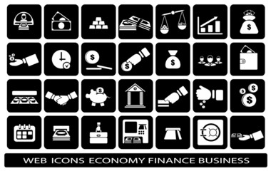 icon web on a subject business finance economy