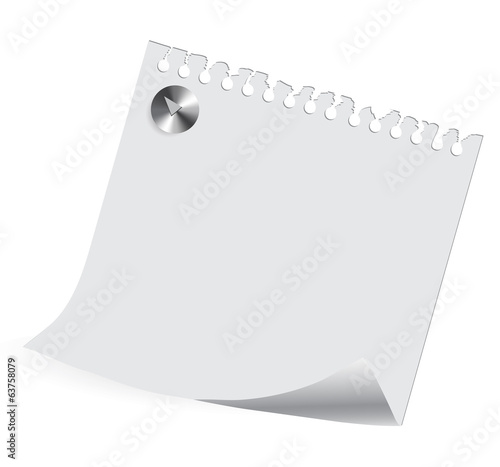 sheet of paper on on a white background with a place for your te