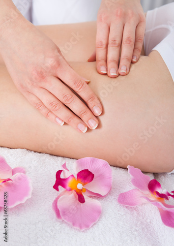 Woman Getting Thigh Massage