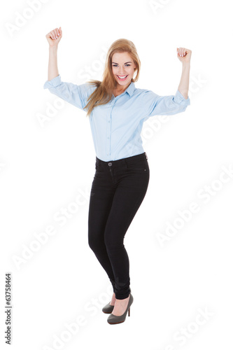 Smiling Ecstatic Woman