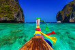 Traditional longtail boat in Maya bay on Koh Phi Phi Leh Island, - 63759025