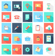 Modern flat icons vector collection with long shadow
