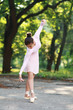 ballerina dancing outdoors