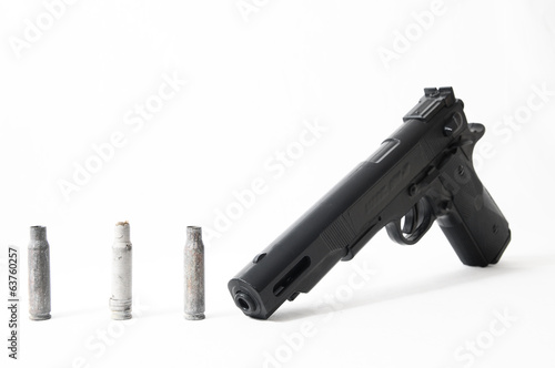 Pistol Gun and Bullets