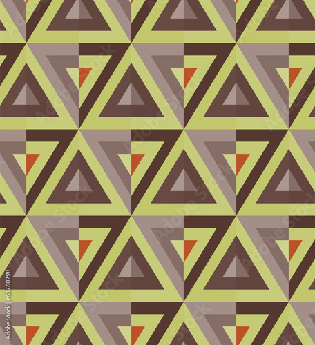 Colored triangle pattern