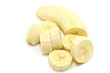 banana slices on withe background isolated
