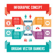 Infographic Business Concept for Presentation with Mobile Phone
