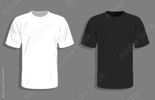 Men's t-shirt design template. Vector