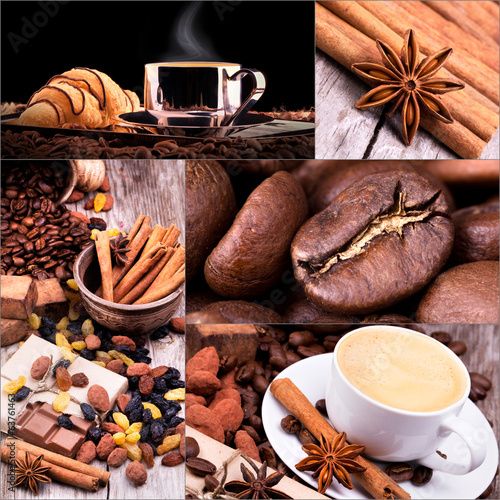 Collage of coffee details