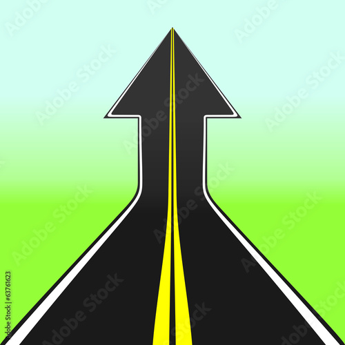 Road arrow. Vector