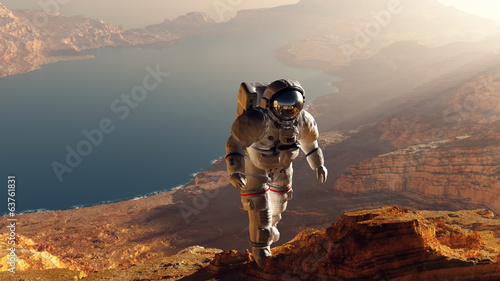 Leinwanddruck Bild The astronaut