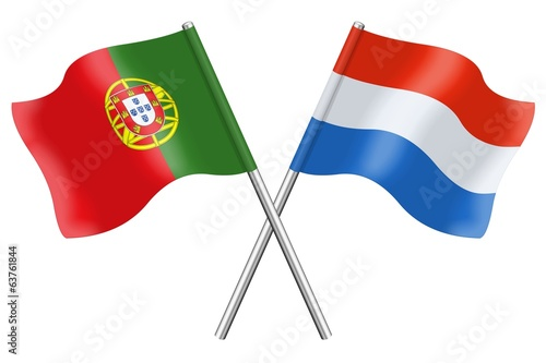 Flags: Portugal and Luxembourg