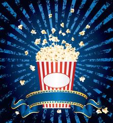 blue popcorn explosion