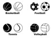 Ball set. Vector