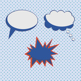 Popart Comic Style Background and Bubbles poster